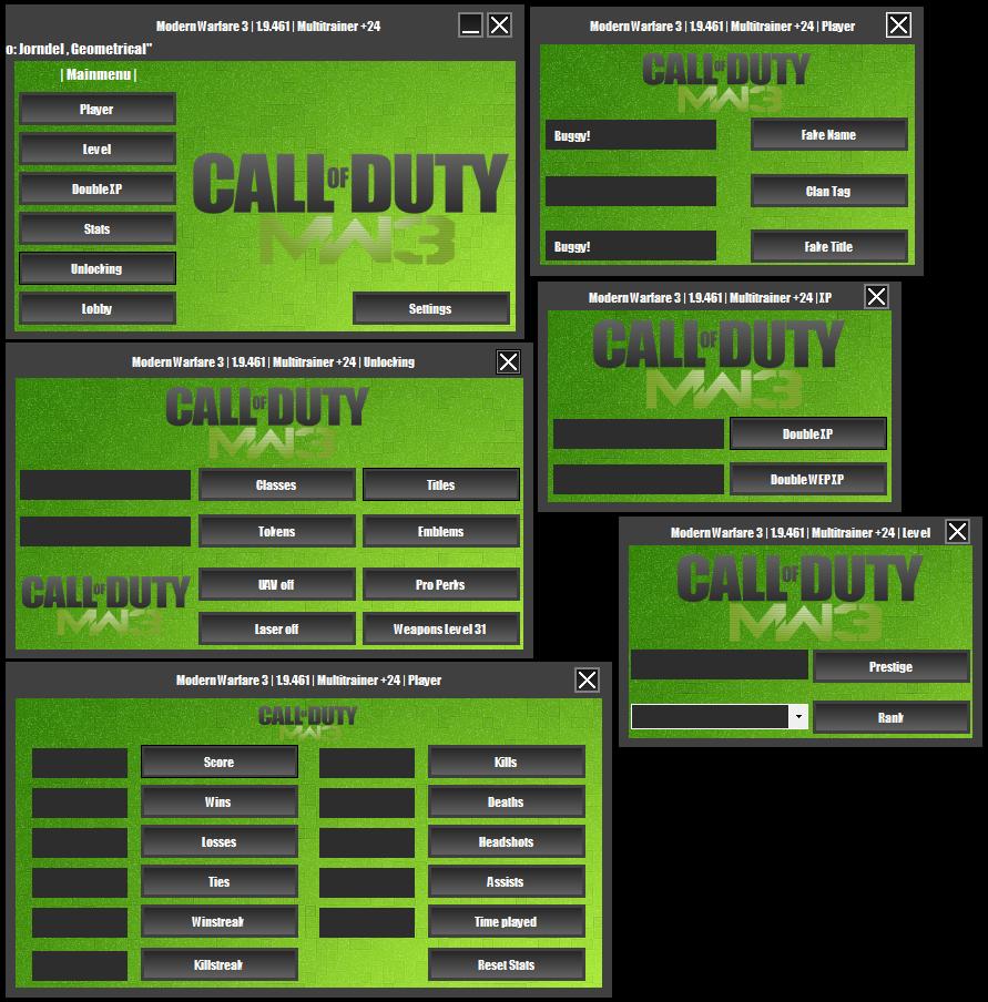 Call Of Duty Modern Warfare 3 Unlocker 1 9 461