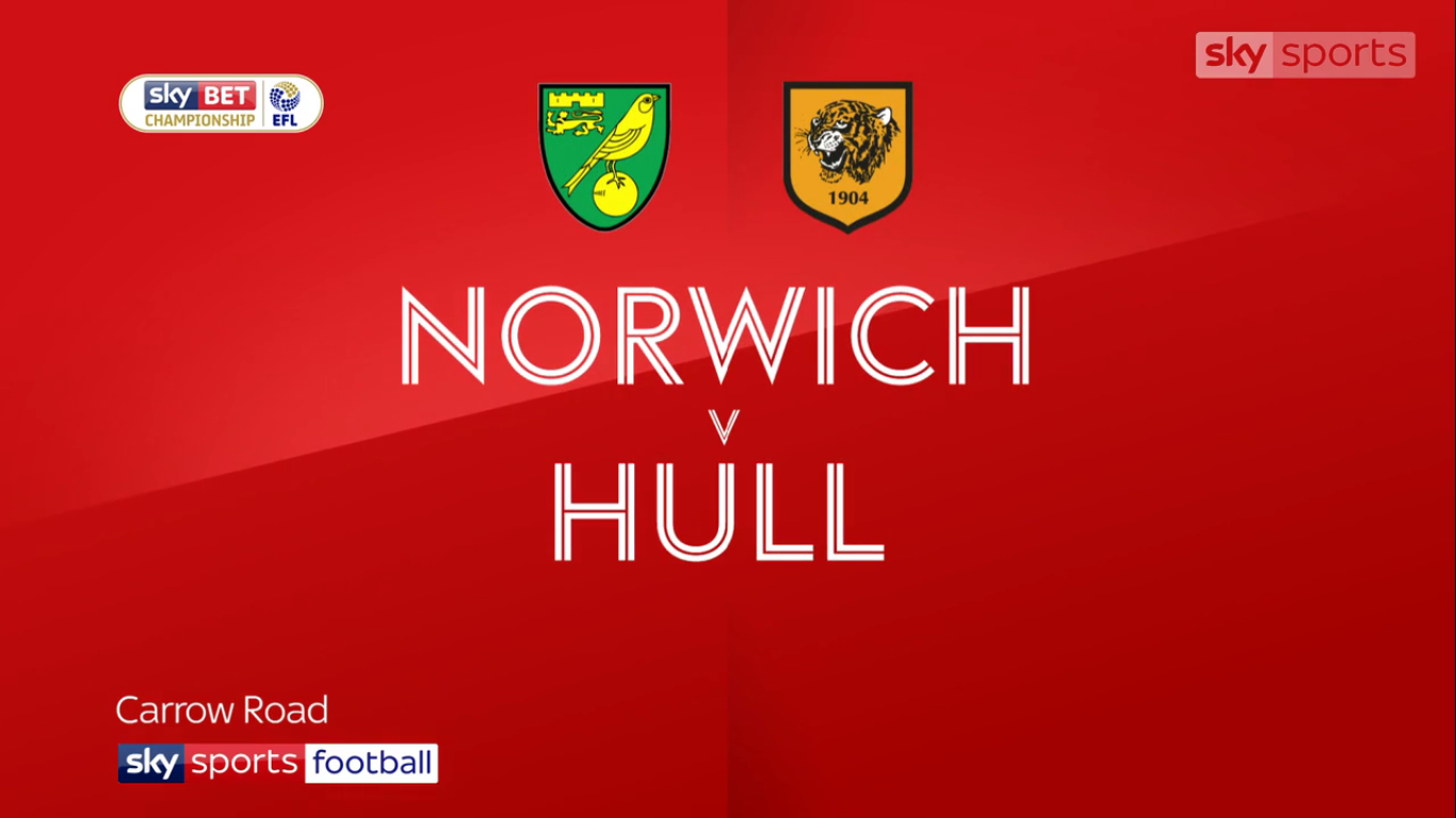 14-10-2017 - Norwich City 1-1 Hull City (CHAMPIONSHIP)