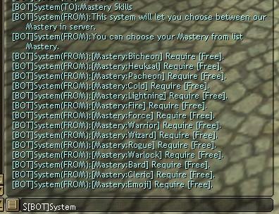 Mastery Skills