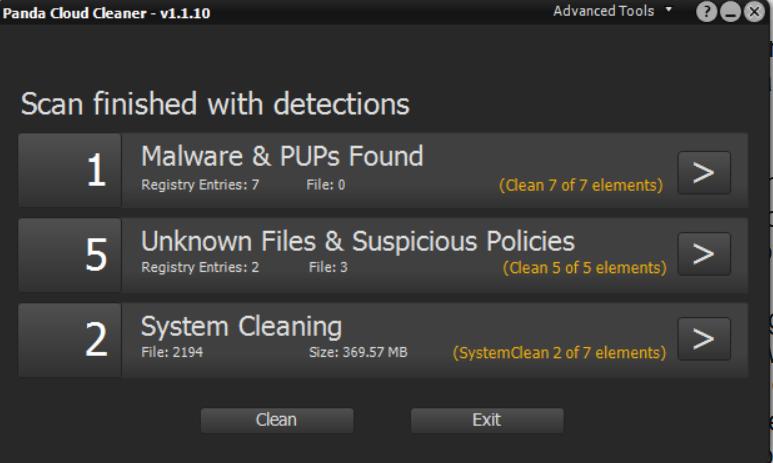 البرمجيات Panda Cloud Cleaner Portable zU1hbab.png