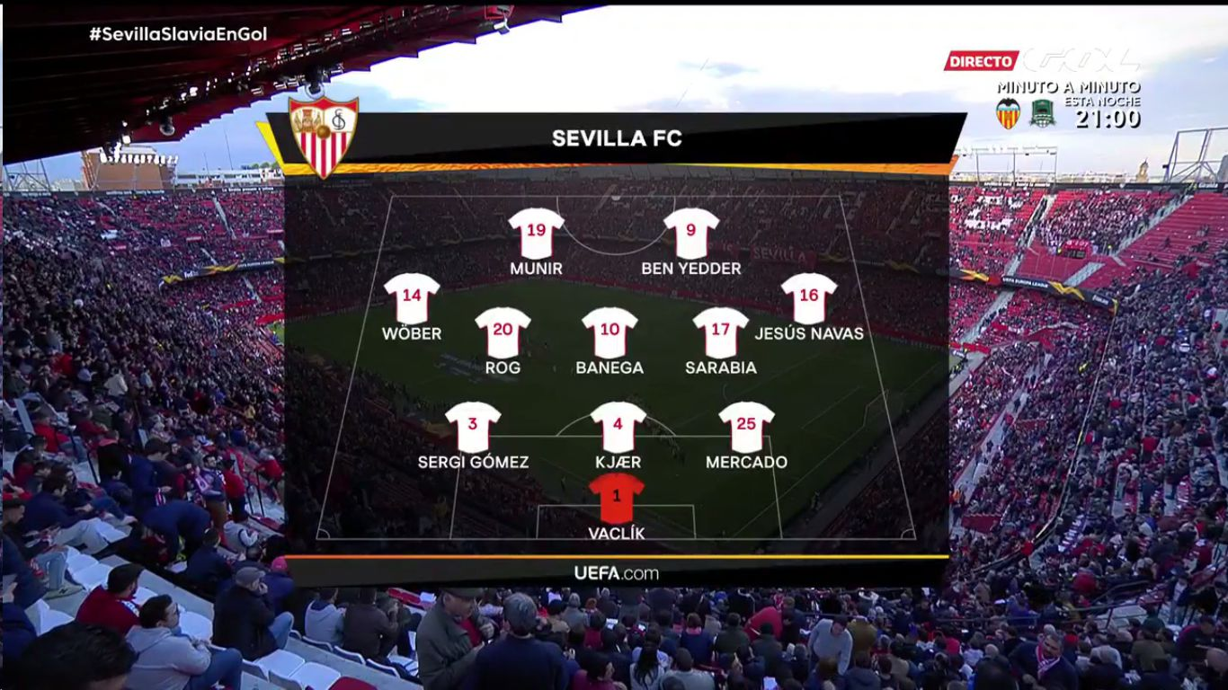 07-03-2019 - Sevilla 2-2 Slavia Prague (EUROPA LEAGUE)
