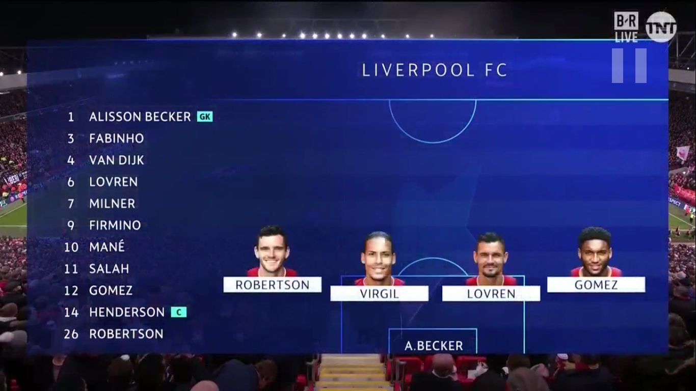 27-11-2019 - Liverpool 1-1 Napoli (CHAMPIONS LEAGUE)