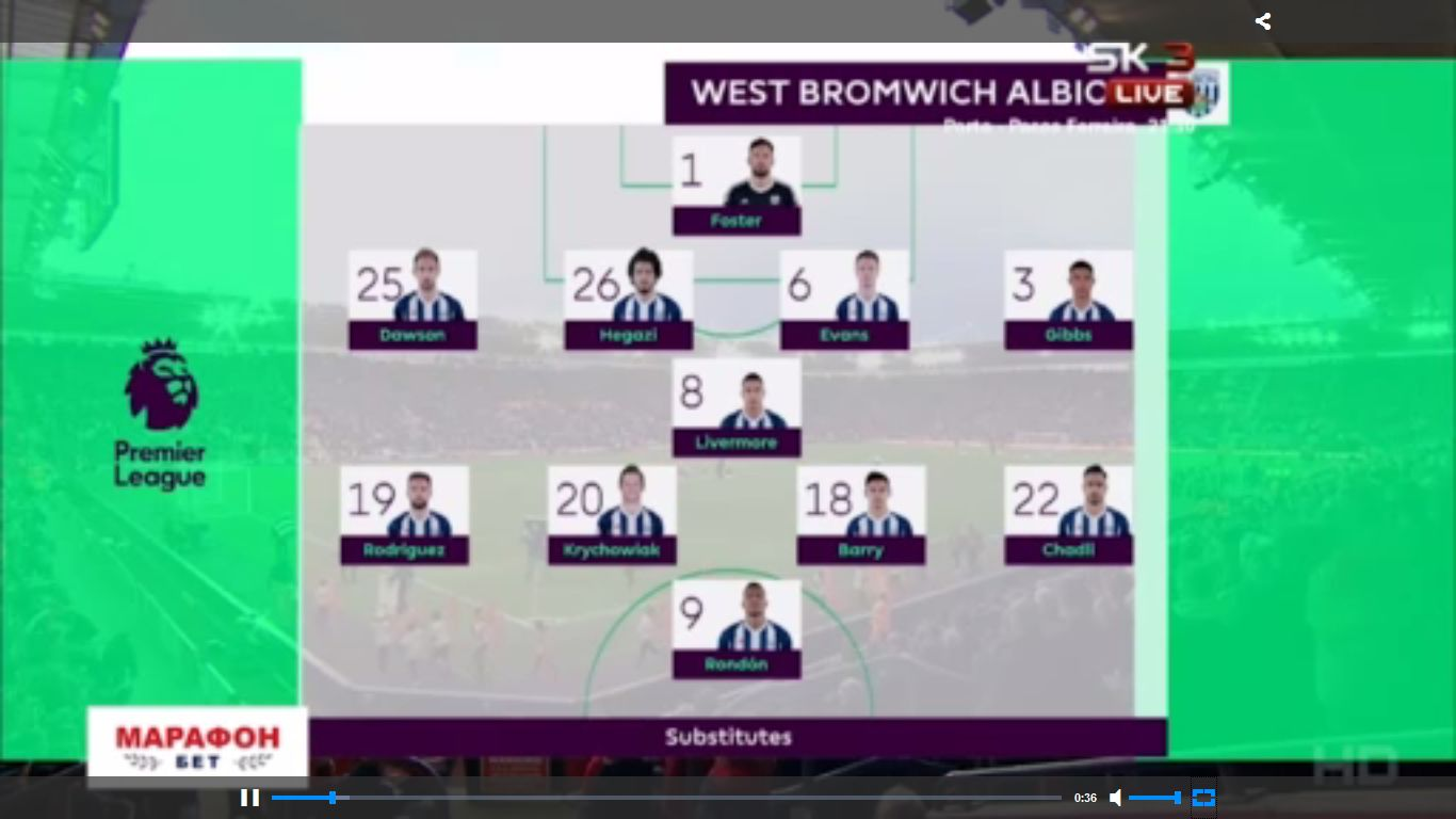 Southampton 1-0 West Bromwich Albion
