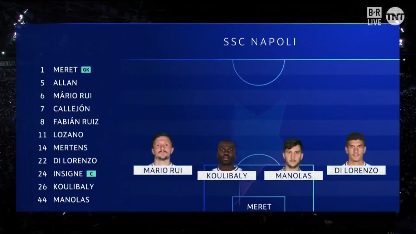 17-09-2019 - Napoli 2-0 Liverpool (CHAMPIONS LEAGUE)