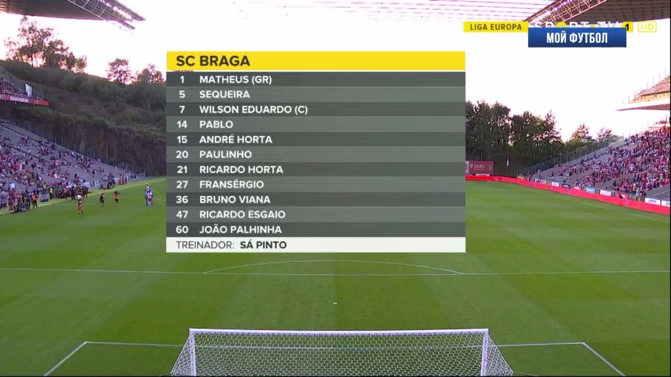 22-08-2019 - SC Braga 1-0 Spartak Moscow (EUROPA LEAGUE QUALIF.)