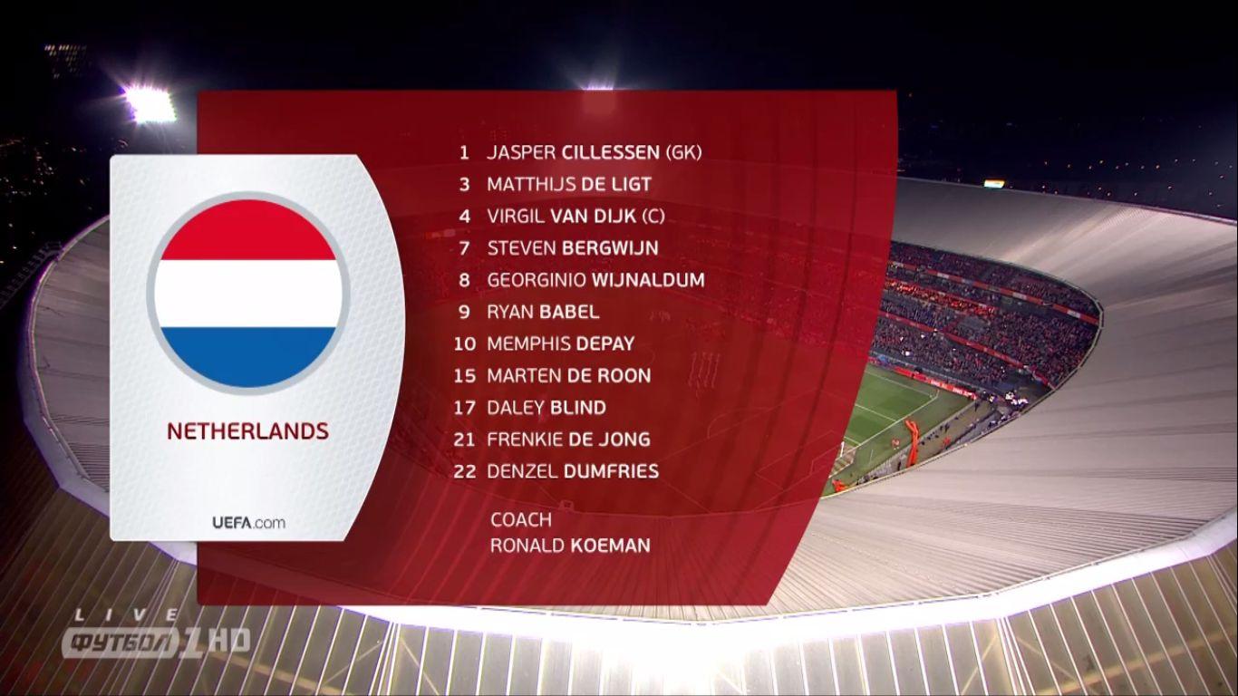 21-03-2019 - Netherlands 4-0 Belarus (EURO QUALIF.)
