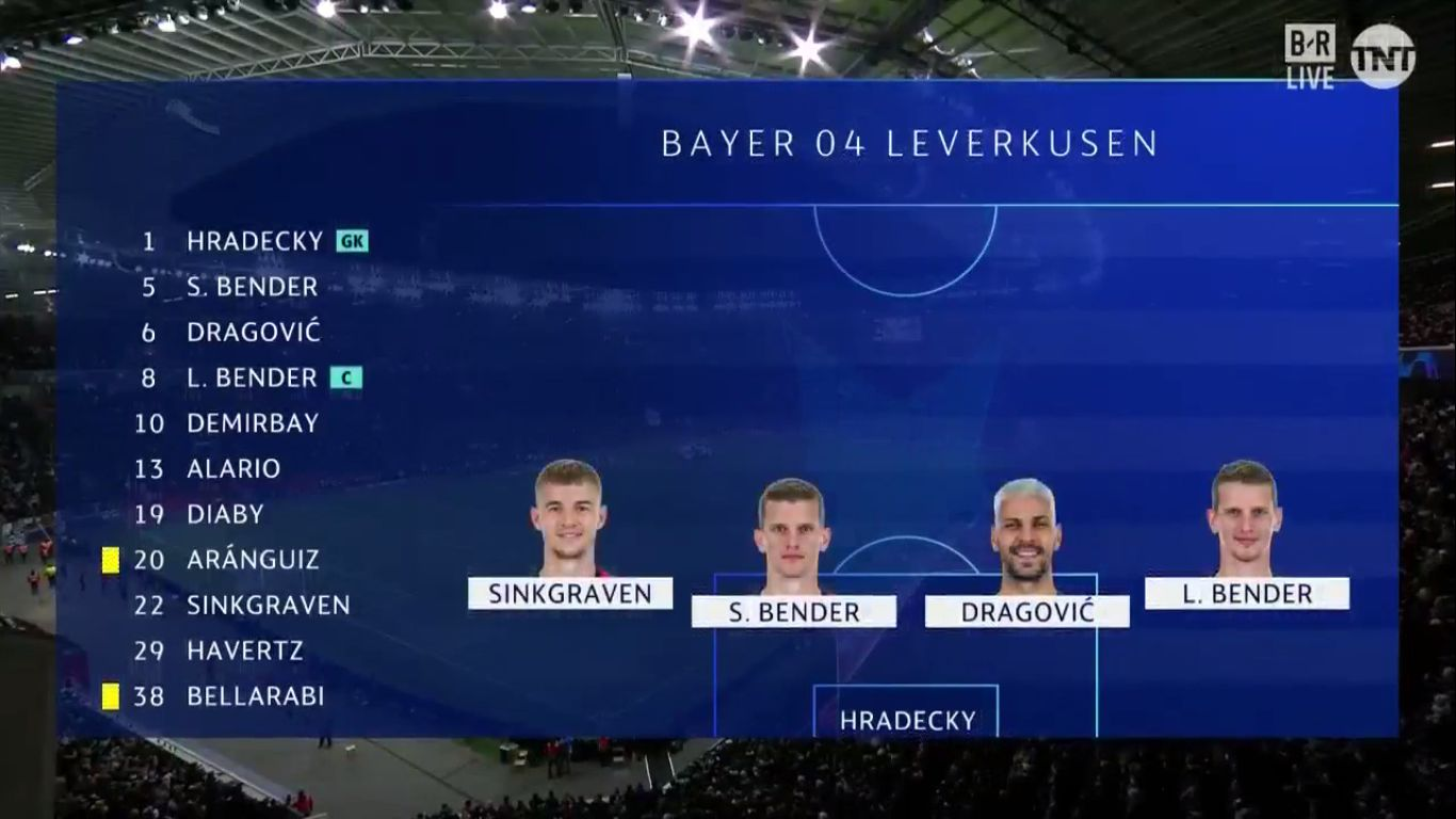 11-12-2019 - Bayer Leverkusen 0-2 Juventus (CHAMPIONS LEAGUE)