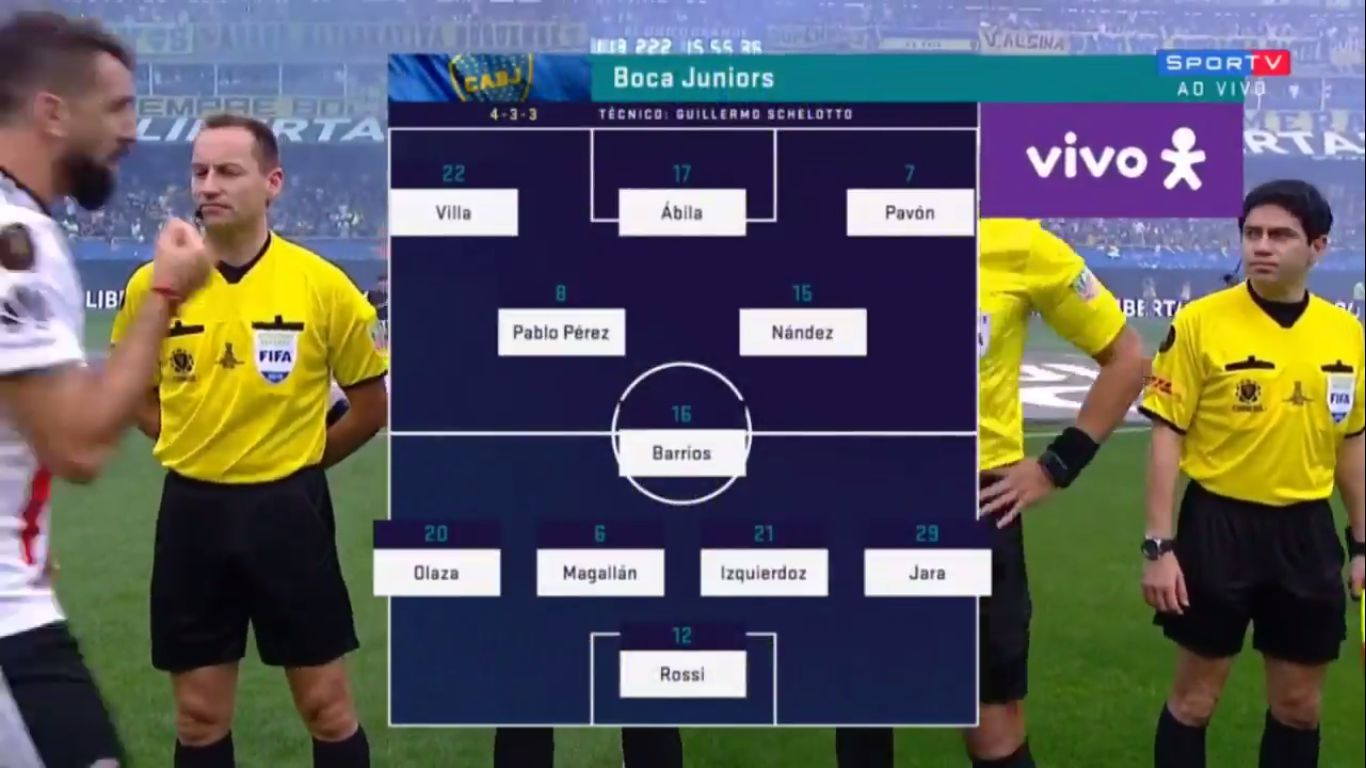 11-11-2018 - Boca Juniors 2-2 River Plate (COPA LIBERTADORES - FINAL - 1ST LEG)