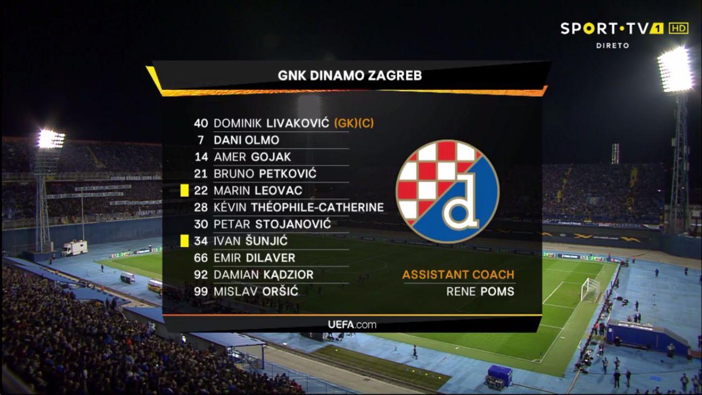 07-03-2019 - Dinamo Zagreb 1-0 Benfica (EUROPA LEAGUE)