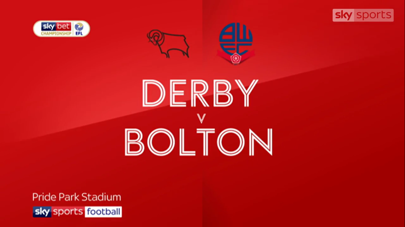 13-04-2019 - Derby County 4-0 Bolton Wanderers (CHAMPIONSHIP)