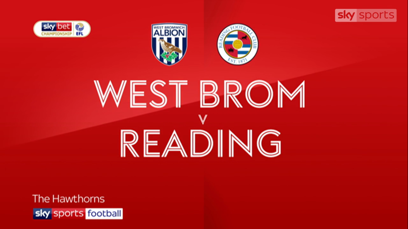 21-08-2019 - West Bromwich Albion 1-1 Reading (CHAMPIONSHIP)