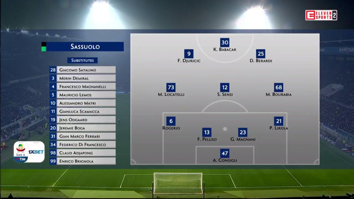 10-02-2019 - Sassuolo 0-3 Juventus