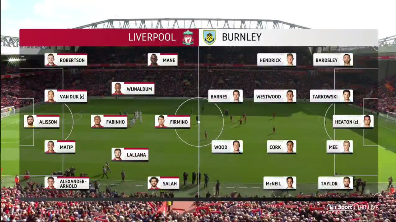10-03-2019 - Liverpool 4-2 Burnley