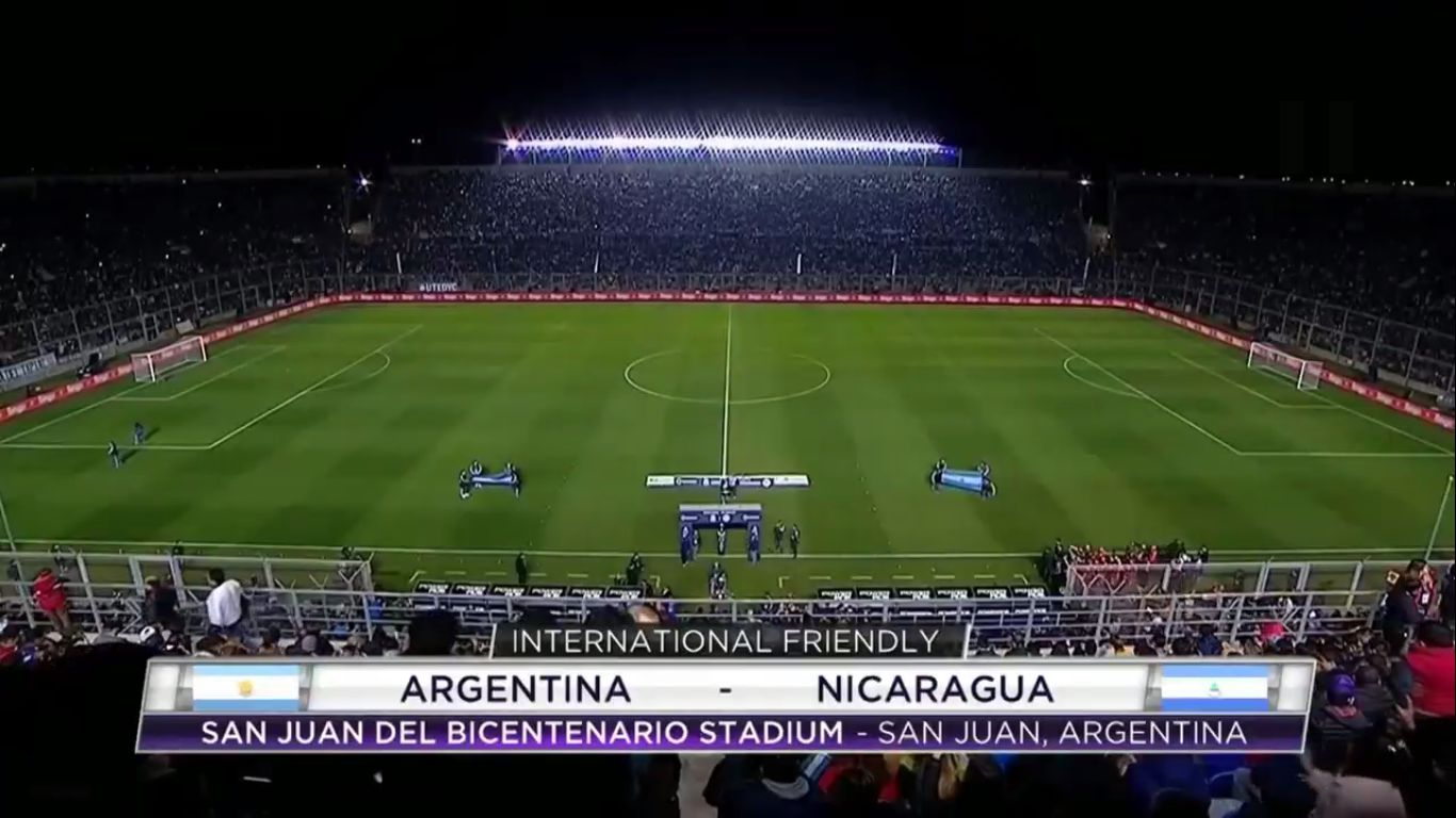 08-06-2019 - Argentina 5-1 Nicaragua (FRIENDLY)