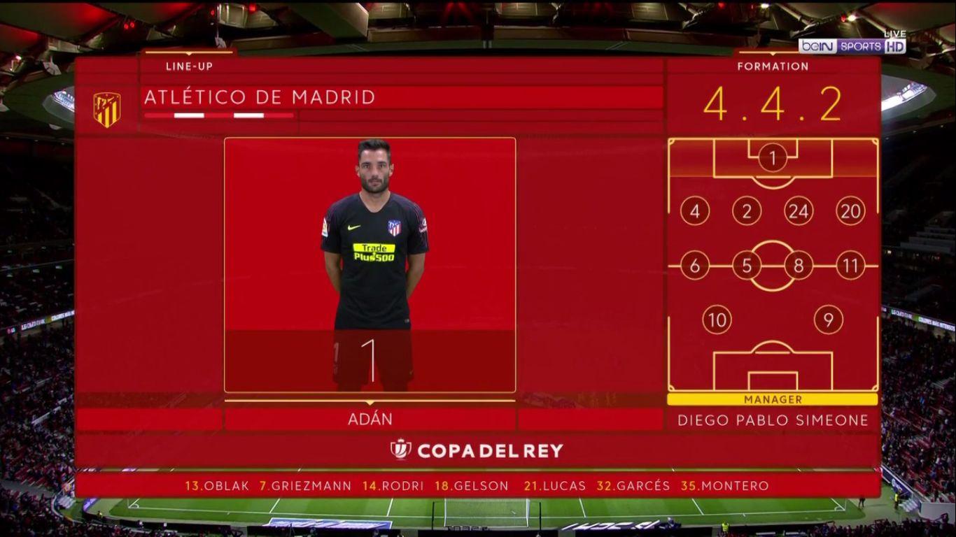 16-01-2019 - Atletico Madrid 3-3 Girona (COPA DEL REY)