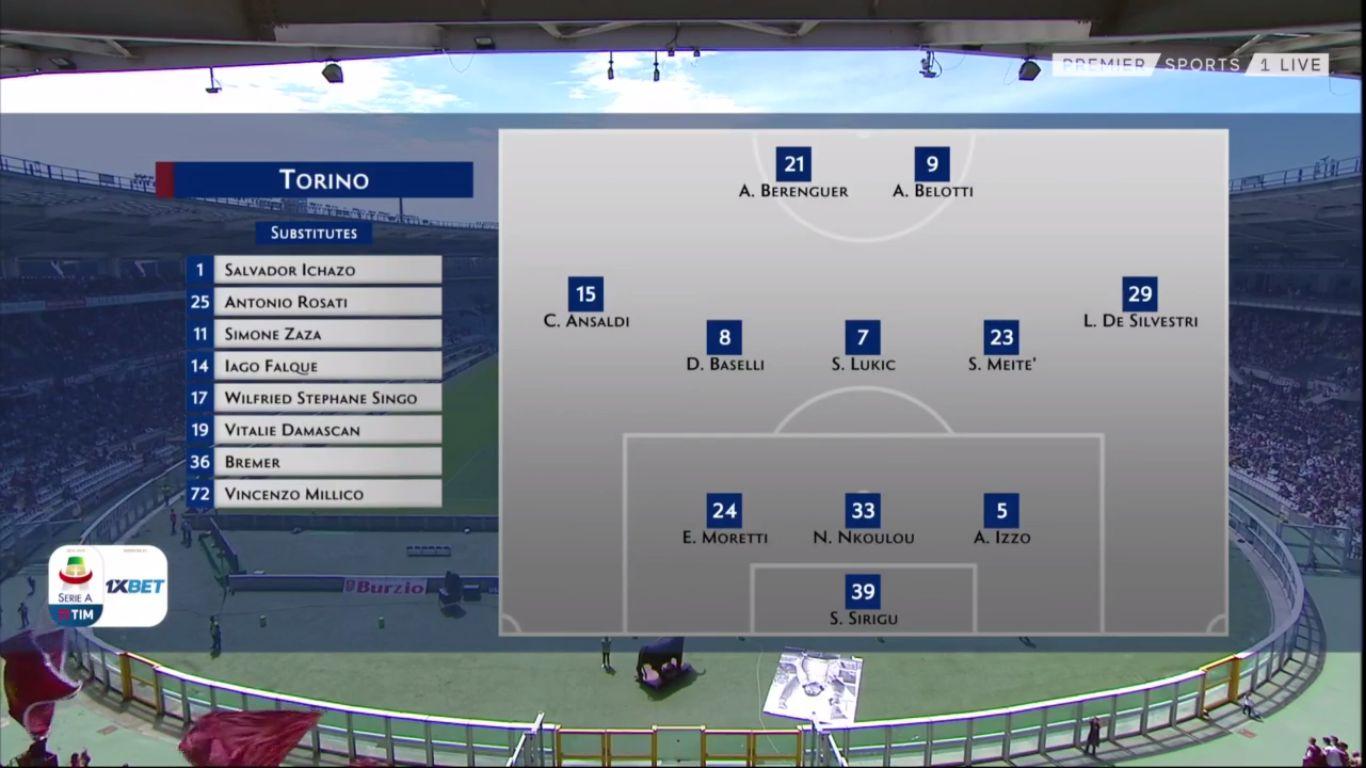 12-05-2019 - Torino 3-2 Sassuolo