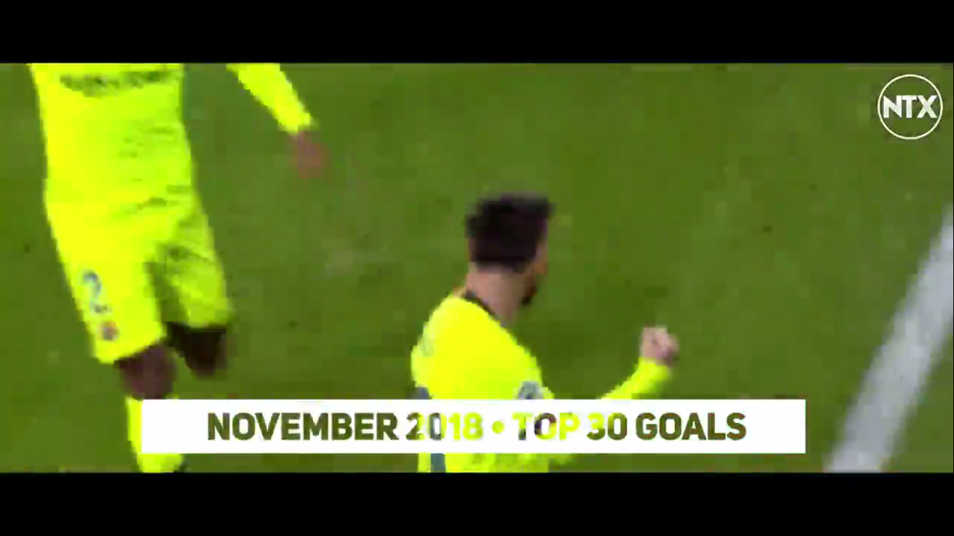 Top 30 Goals of November 2018