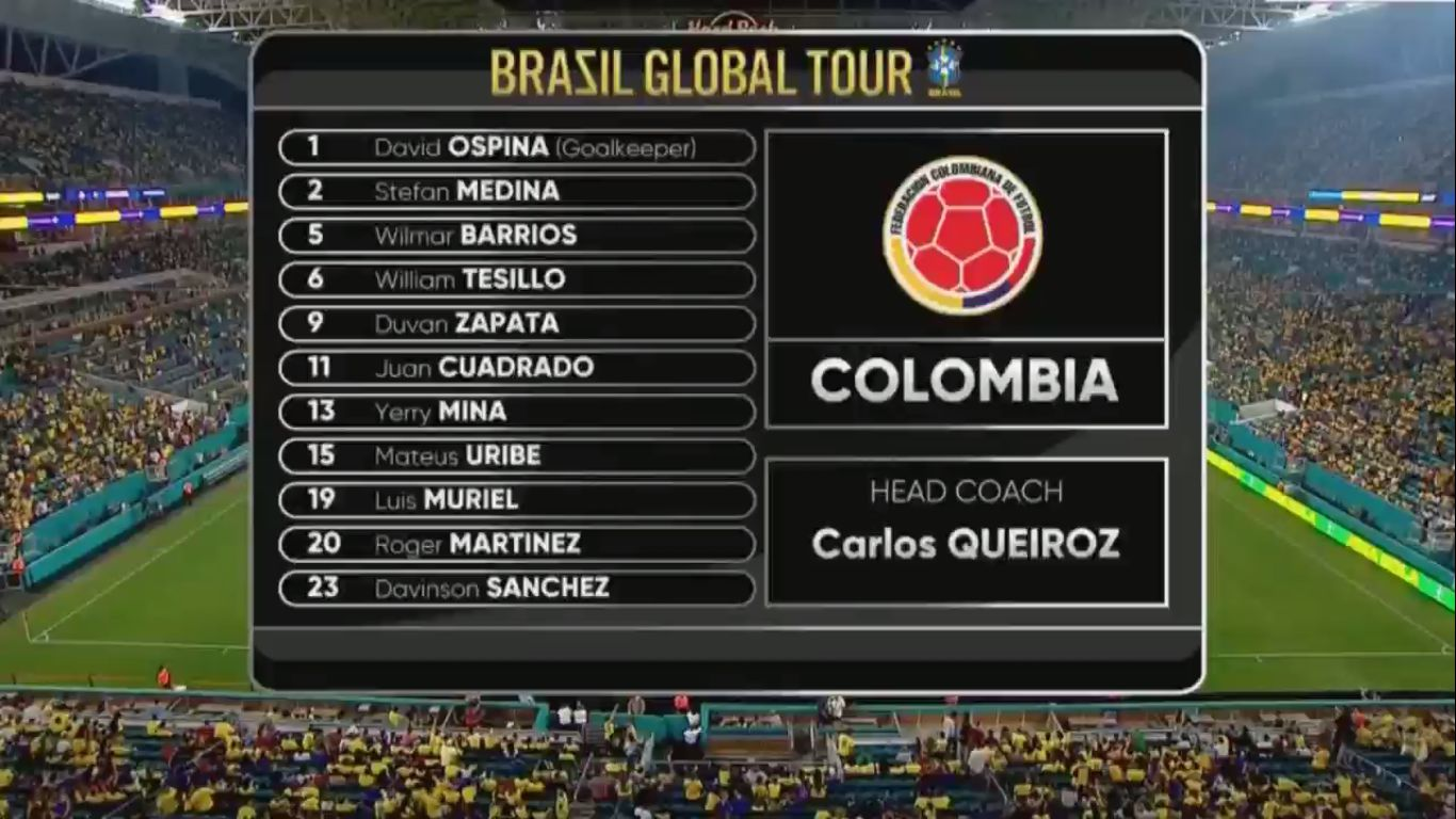 07-09-2019 - Brazil 2-2 Colombia (FRIENDLY)