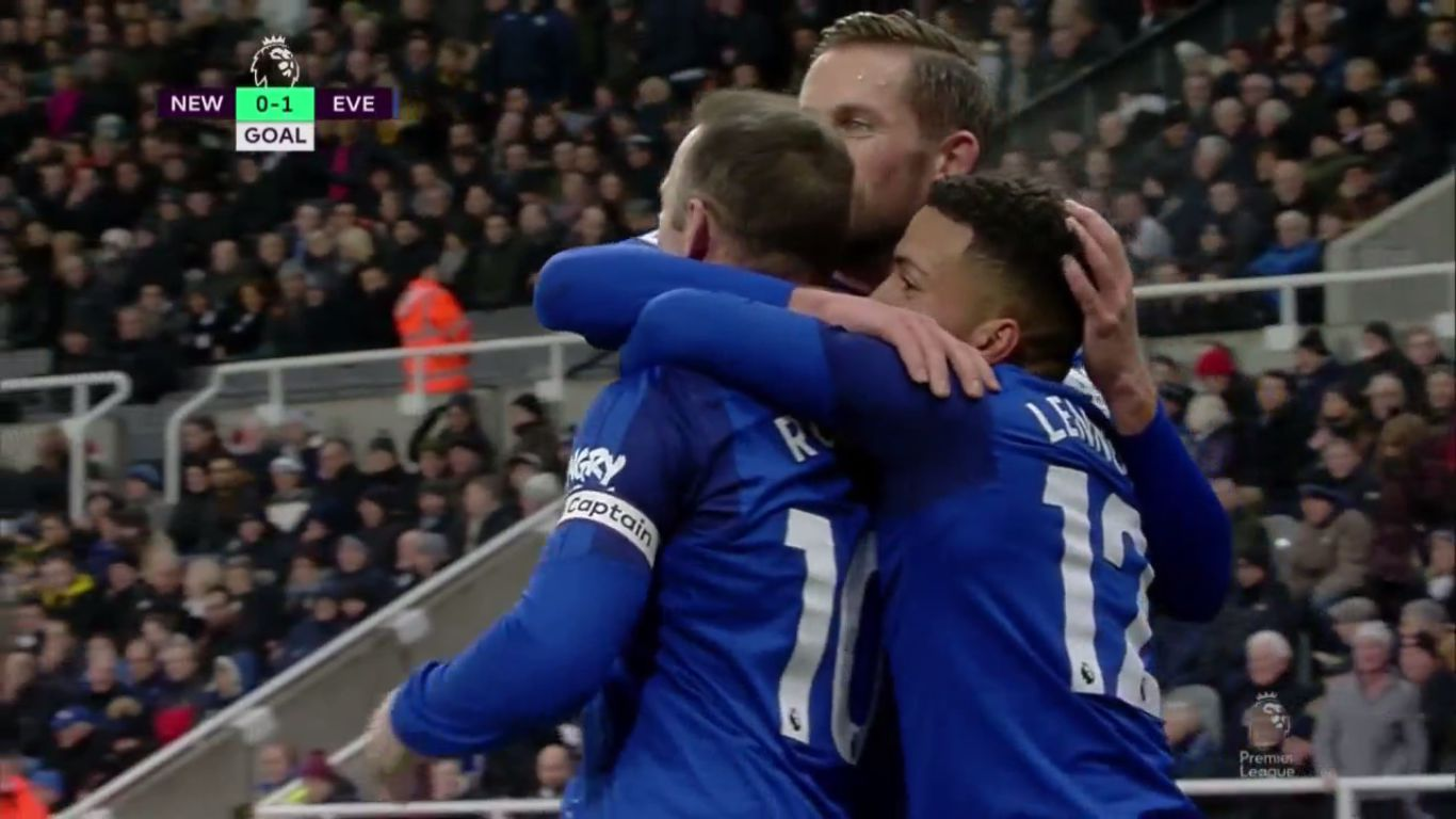 Newcastle United 0-1 Everton