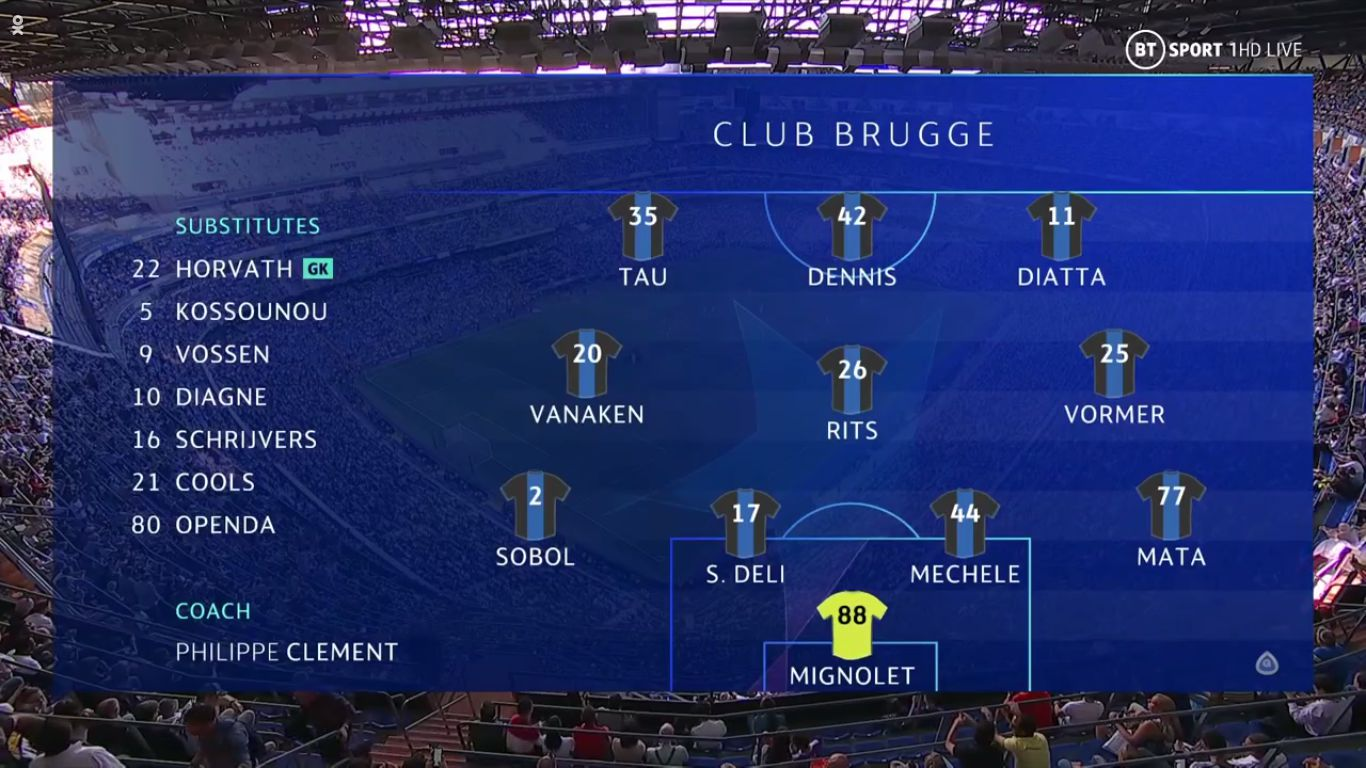 01-10-2019 - Real Madrid 2-2 Club Brugge (CHAMPIONS LEAGUE)