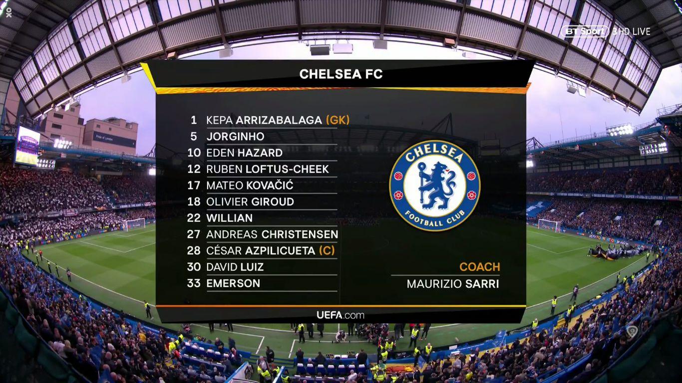 09-05-2019 - Chelsea 1-1 (4-3 PEN.) Eintracht Frankfurt (EUROPA LEAGUE)