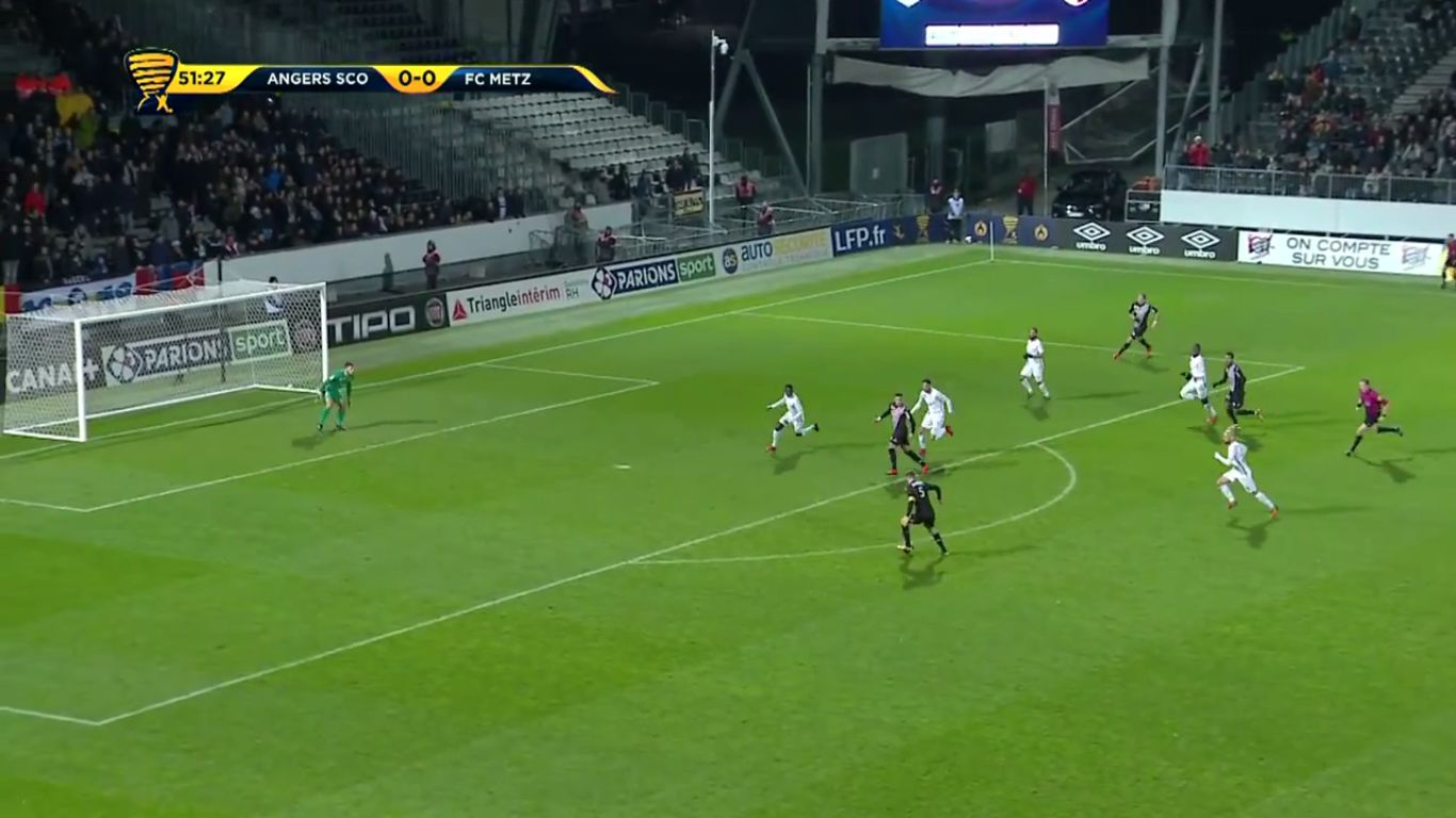 Angers 1-0 Metz (LEAGUE CUP)