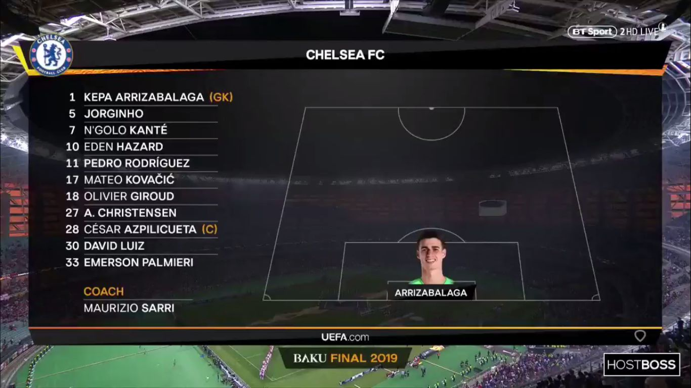29-05-2019 - Chelsea 4-1 Arsenal (EUROPA LEAGUE - FINAL)