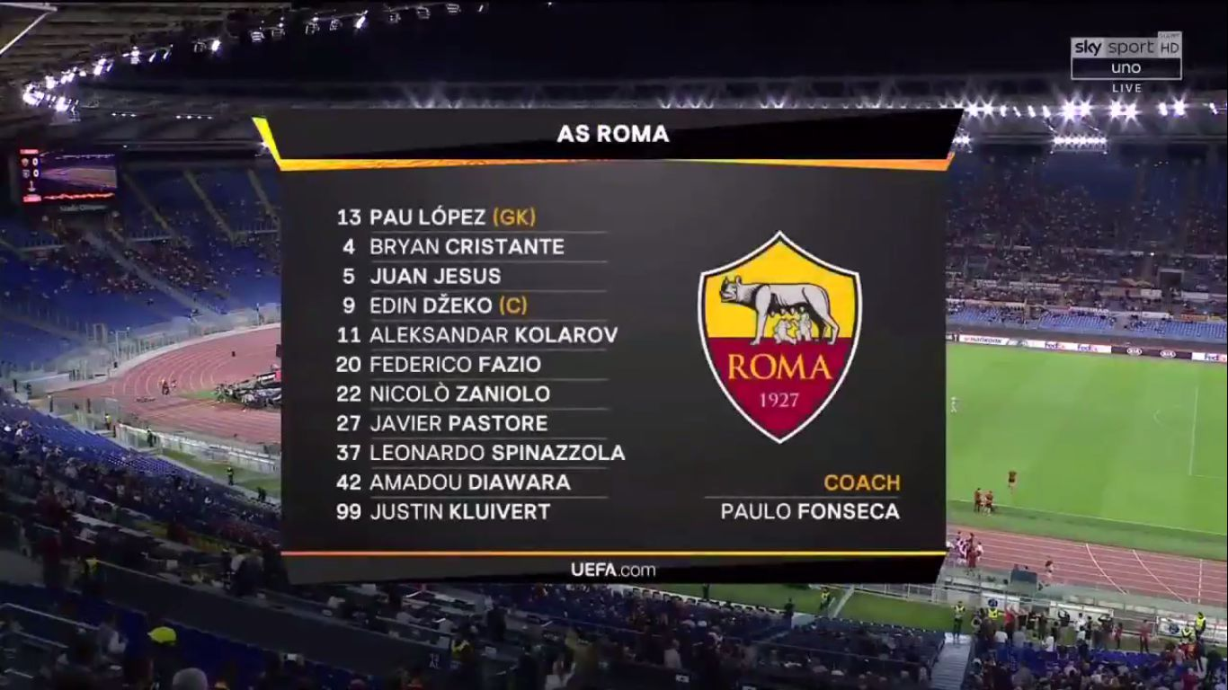 19-09-2019 - Roma 4-0 Istanbul Basaksehir (EUROPA LEAGUE)