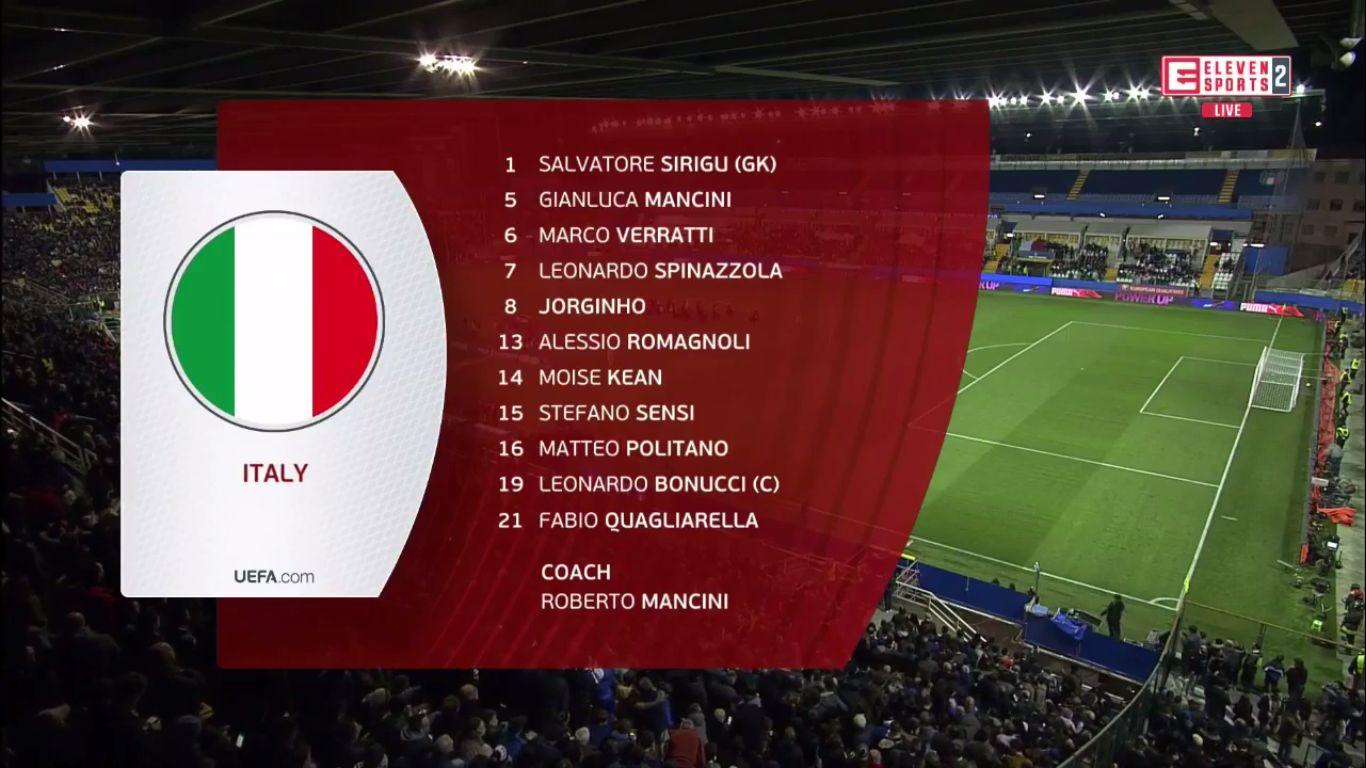 26-03-2019 - Italy 6-0 Liechtenstein (EURO QUALIF.)
