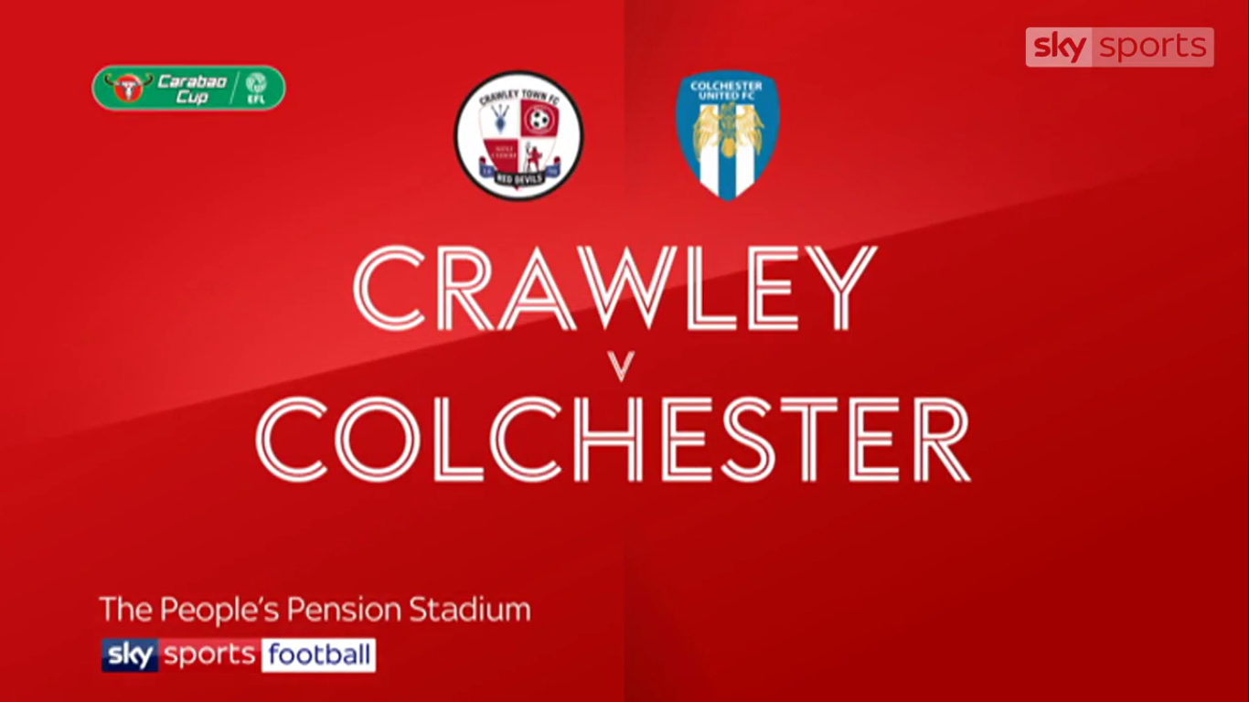 29-10-2019 - Crawley Town 1-3 Colchester United (EFL CUP)