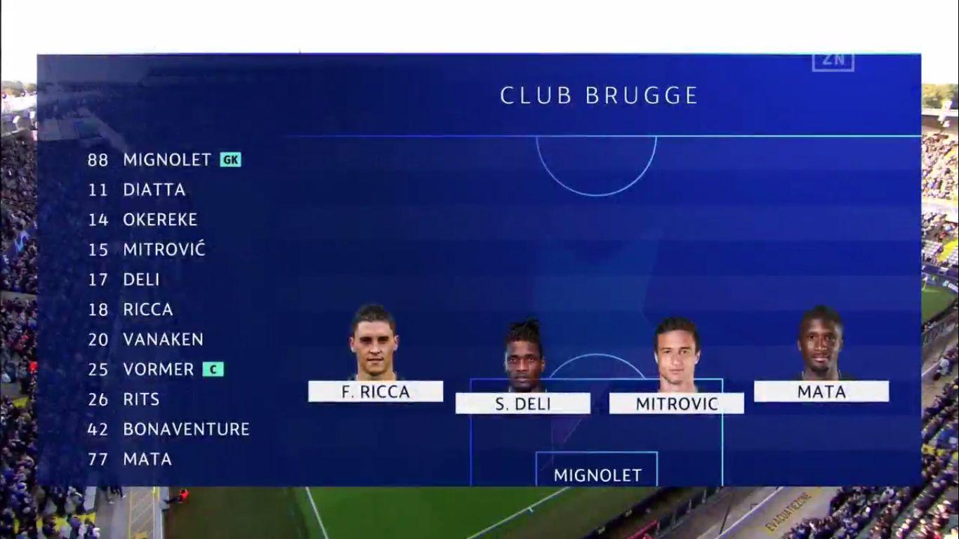 18-09-2019 - Club Brugge 0-0 Galatasaray (CHAMPIONS LEAGUE)