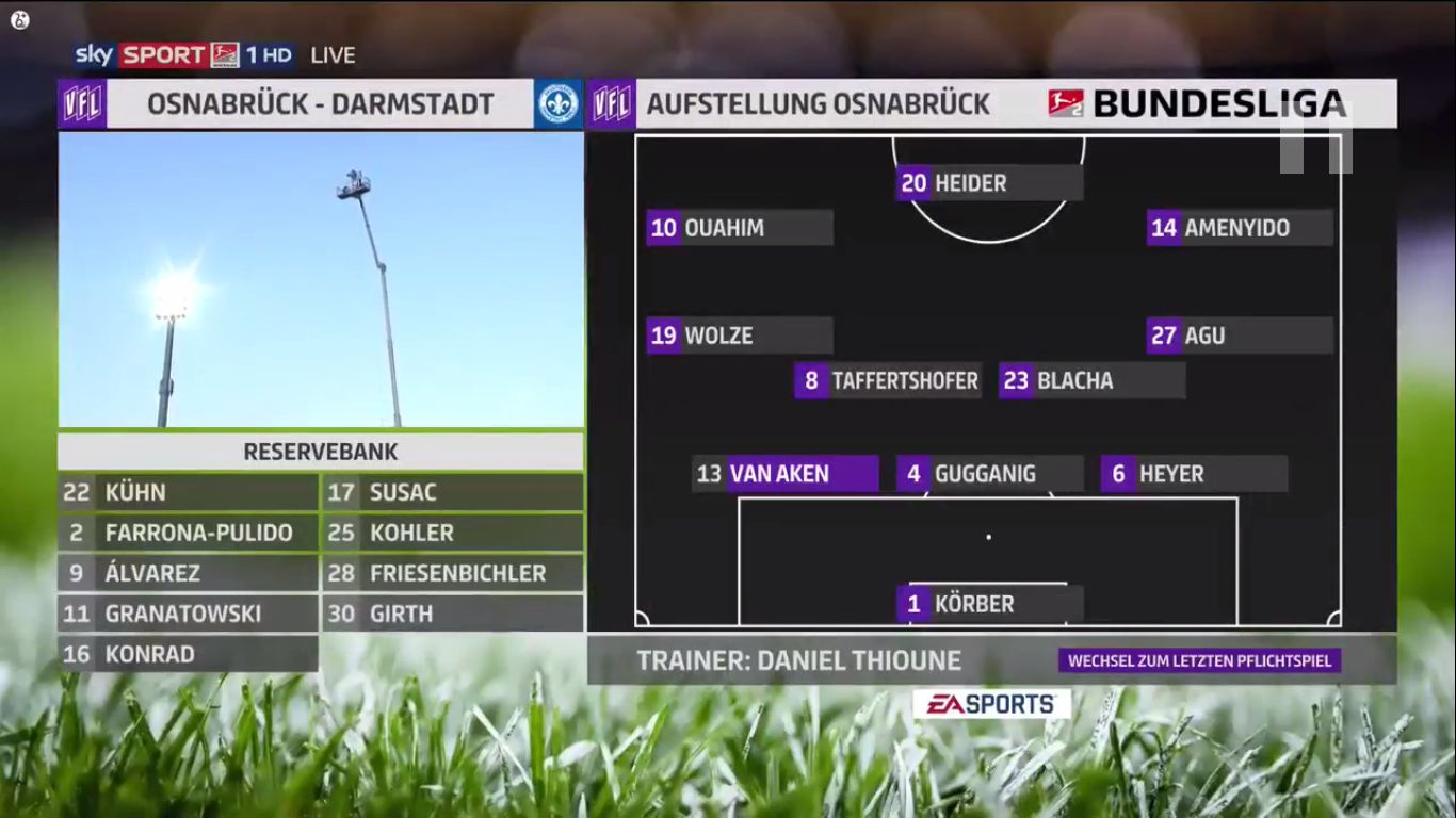 19-08-2019 - VfL Osnabruck 4-0 SV Darmstadt 98 (2. BUNDESLIGA)