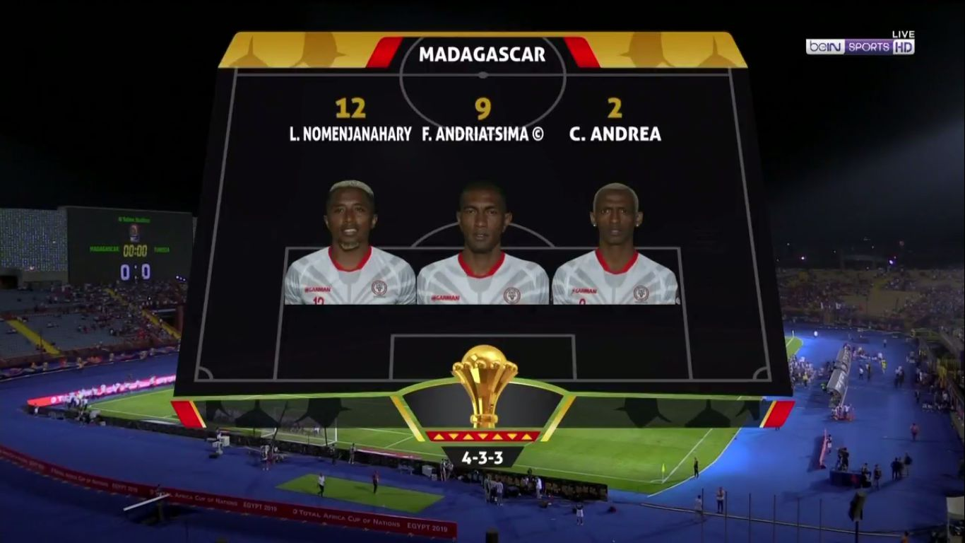 11-07-2019 - Madagascar 0-3 Tunisia (AFRICA CUP OF NATIONS)