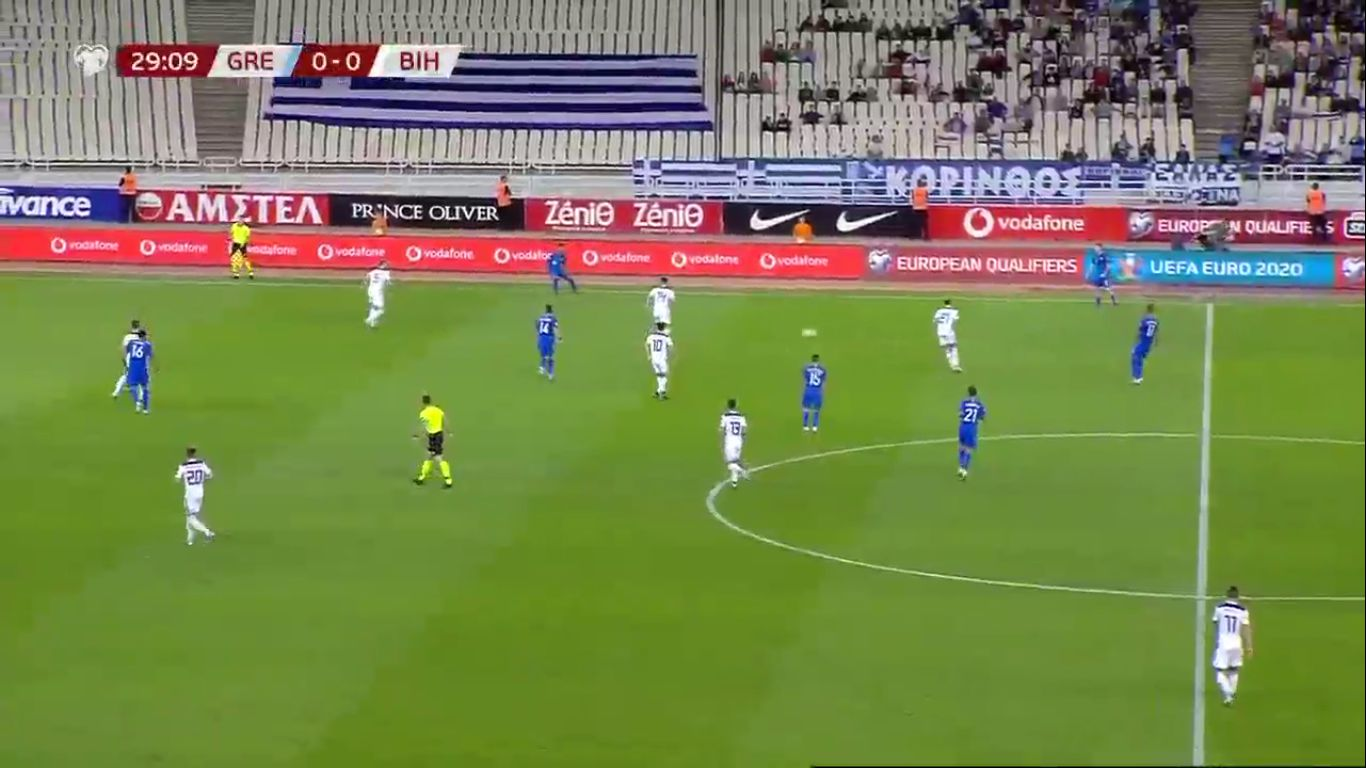 15-10-2019 - Greece 2-1 Bosnia and Herzegovina (EURO QUALIF.)