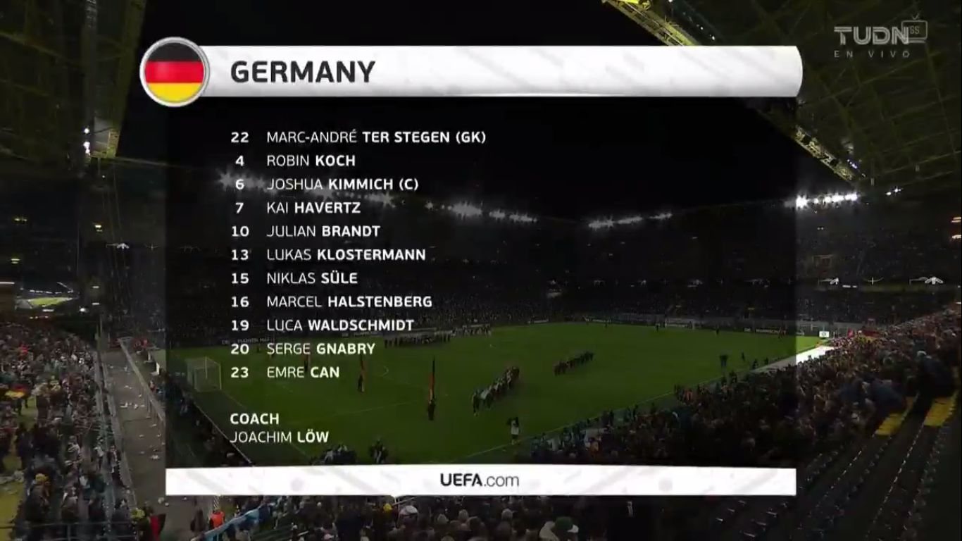 10-10-2019 - Germany 2-2 Argentina (FRIENDLY)
