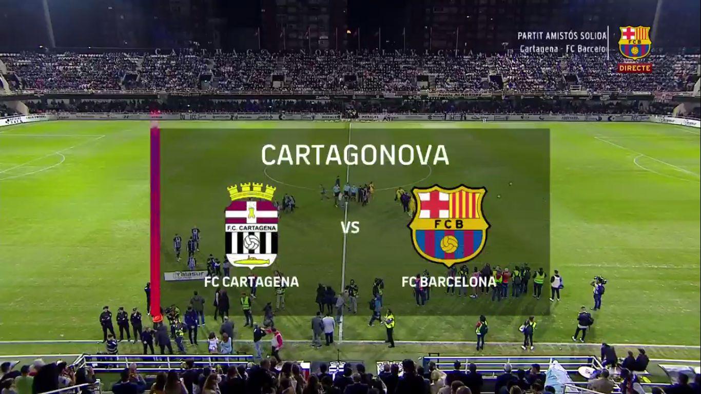 13-11-2019 - Cartagena 0-2 Barcelona (FRIENDLY)
