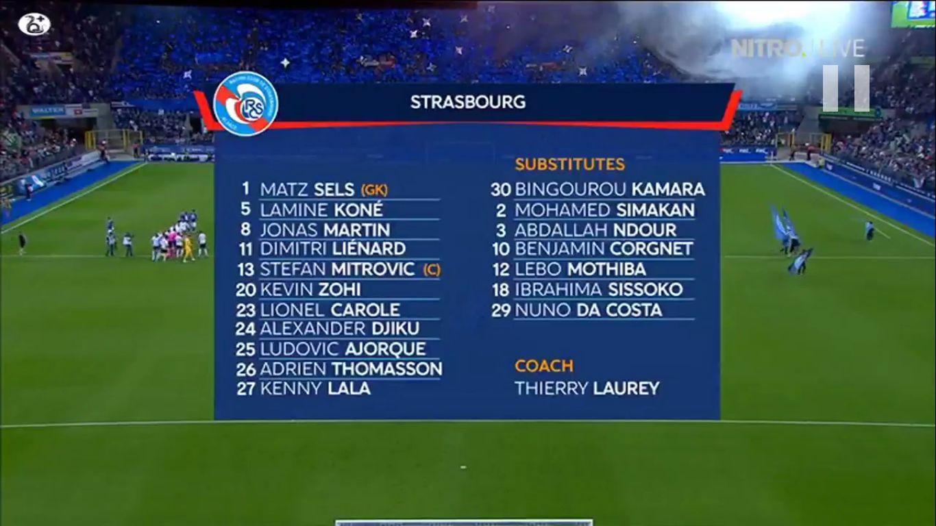 22-08-2019 - Strasbourg 1-0 Eintracht Frankfurt (EUROPA LEAGUE QUALIF.)