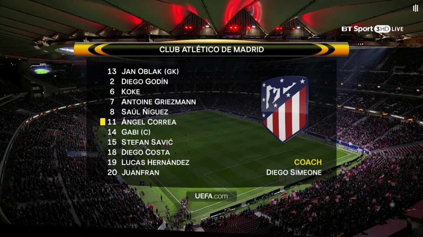 05-04-2018 - Atletico Madrid 2-0 Sporting CP (EUROPA LEAGUE)