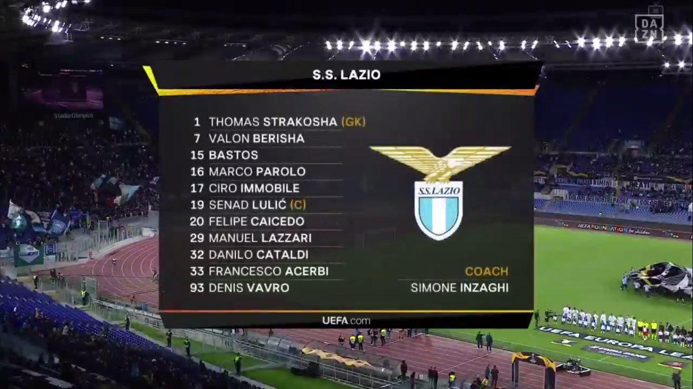 03-10-2019 - Lazio 2-1 Rennes (EUROPA LEAGUE)