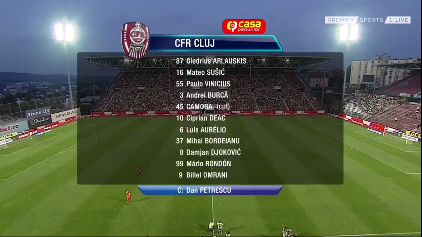07-08-2019 - CFR Cluj 1-1 Celtic (CHAMPIONS LEAGUE QUALIF.)
