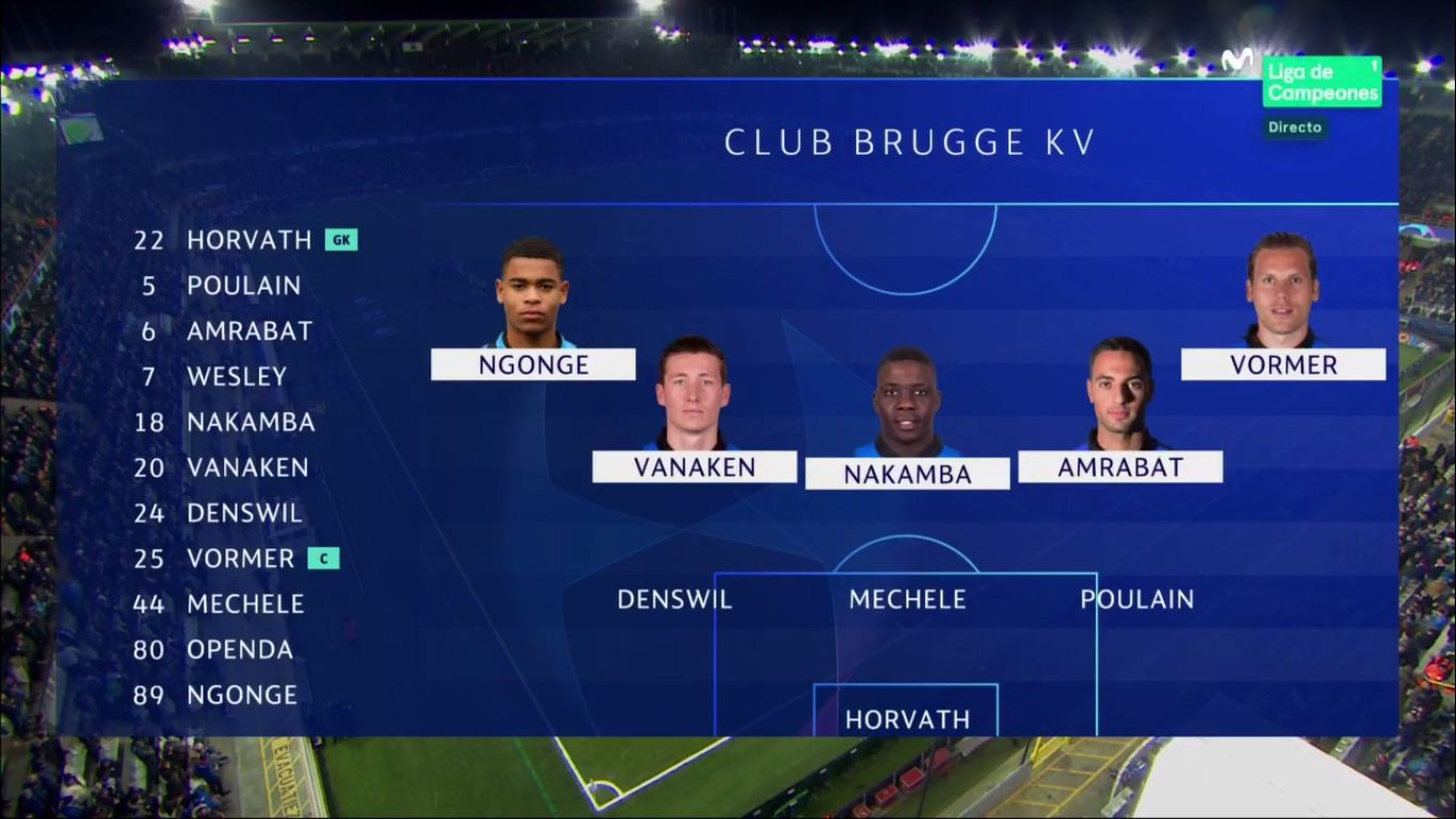 11-12-2018 - Club Brugge 0-0 Atletico Madrid (CHAMPIONS LEAGUE)