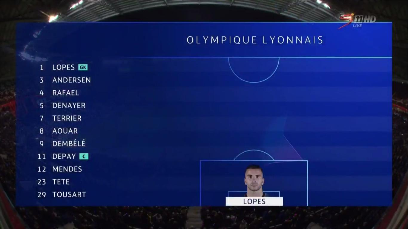 10-12-2019 - Lyon 2-2 RasenBallsport Leipzig (CHAMPIONS LEAGUE)
