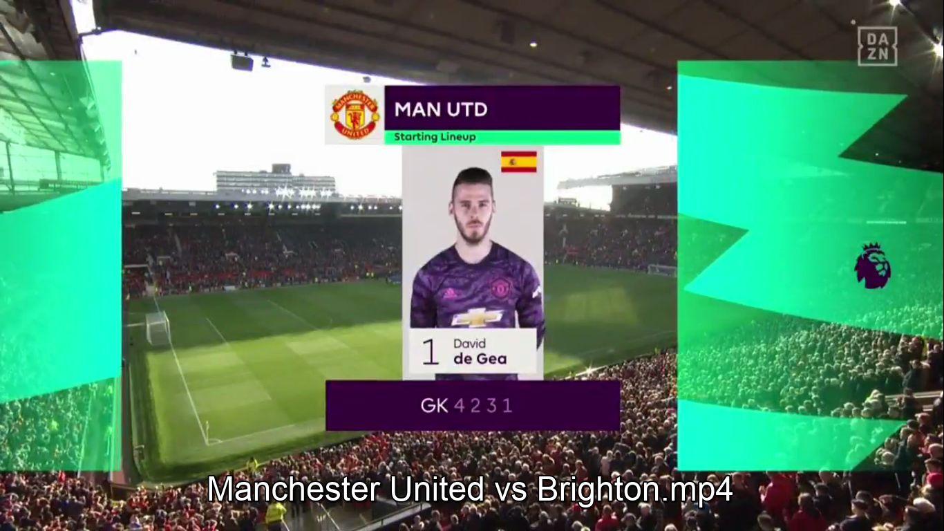10-11-2019 - Manchester United 3-1 Brighton & Hove Albion