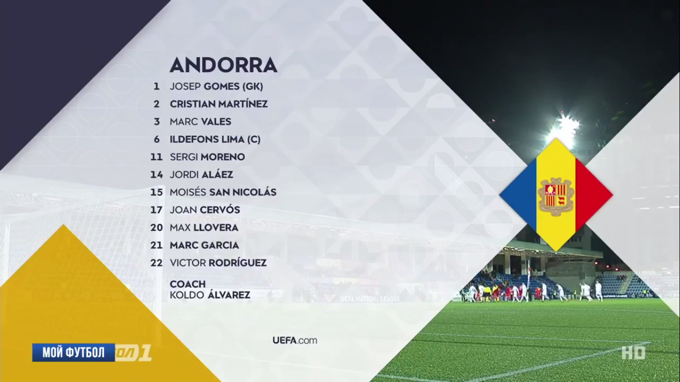 19-11-2018 - Andorra 0-0 Latvia (UEFA NATIONS LEAGUE)
