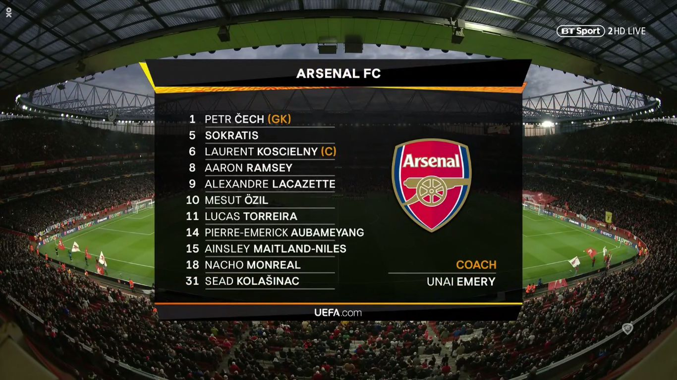 11-04-2019 - Arsenal 2-0 Napoli (EUROPA LEAGUE)