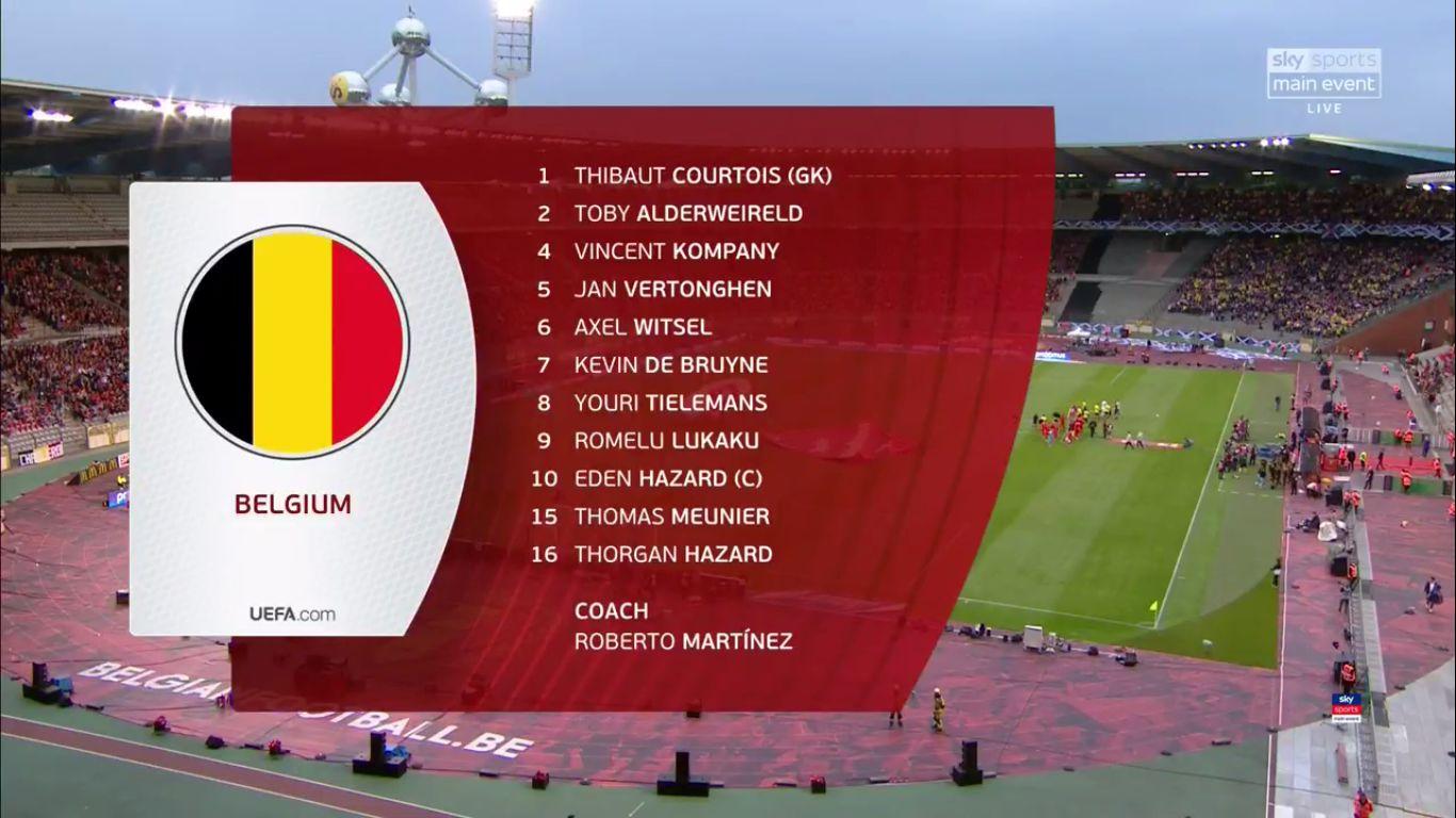 11-06-2019 - Belgium 3-0 Scotland (EURO QUALIF.)