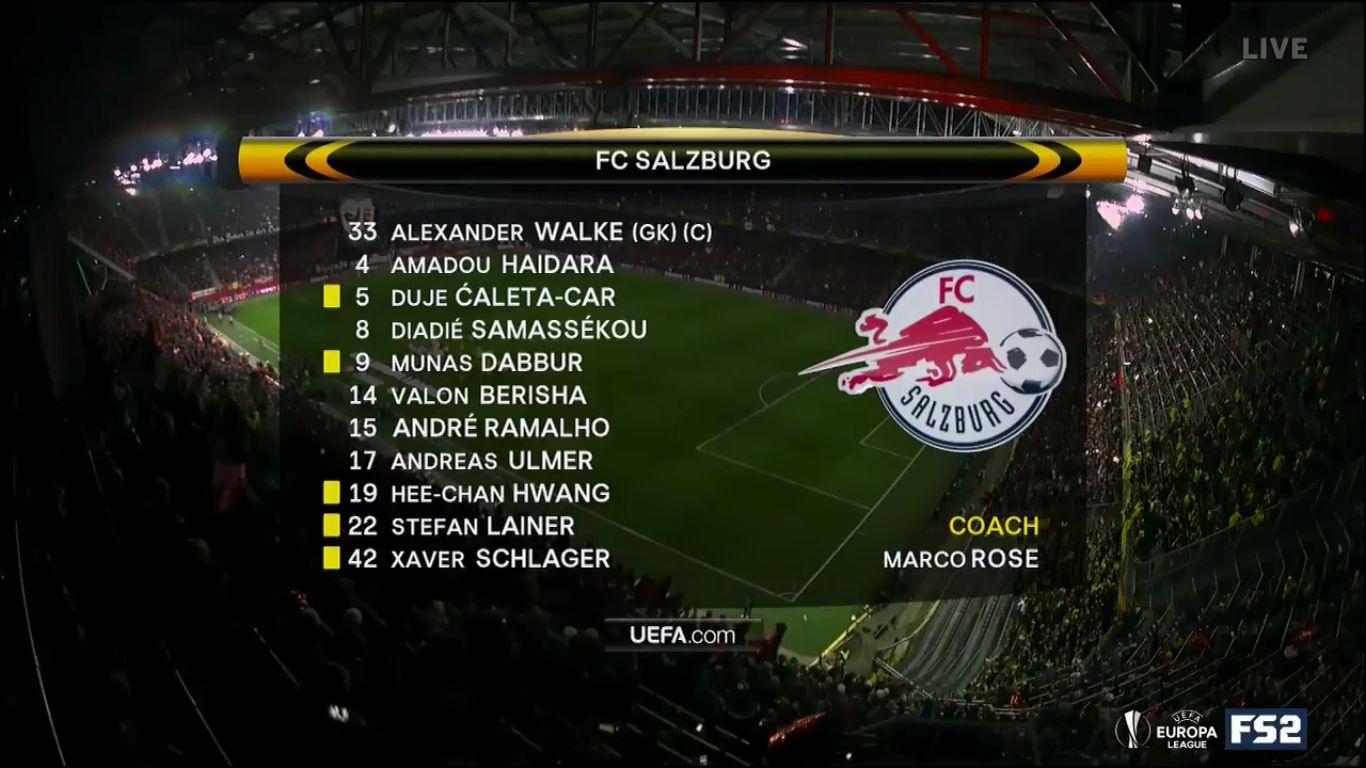 15-03-2018 - Salzburg 0-0 Borussia Dortmund (EUROPA LEAGUE)