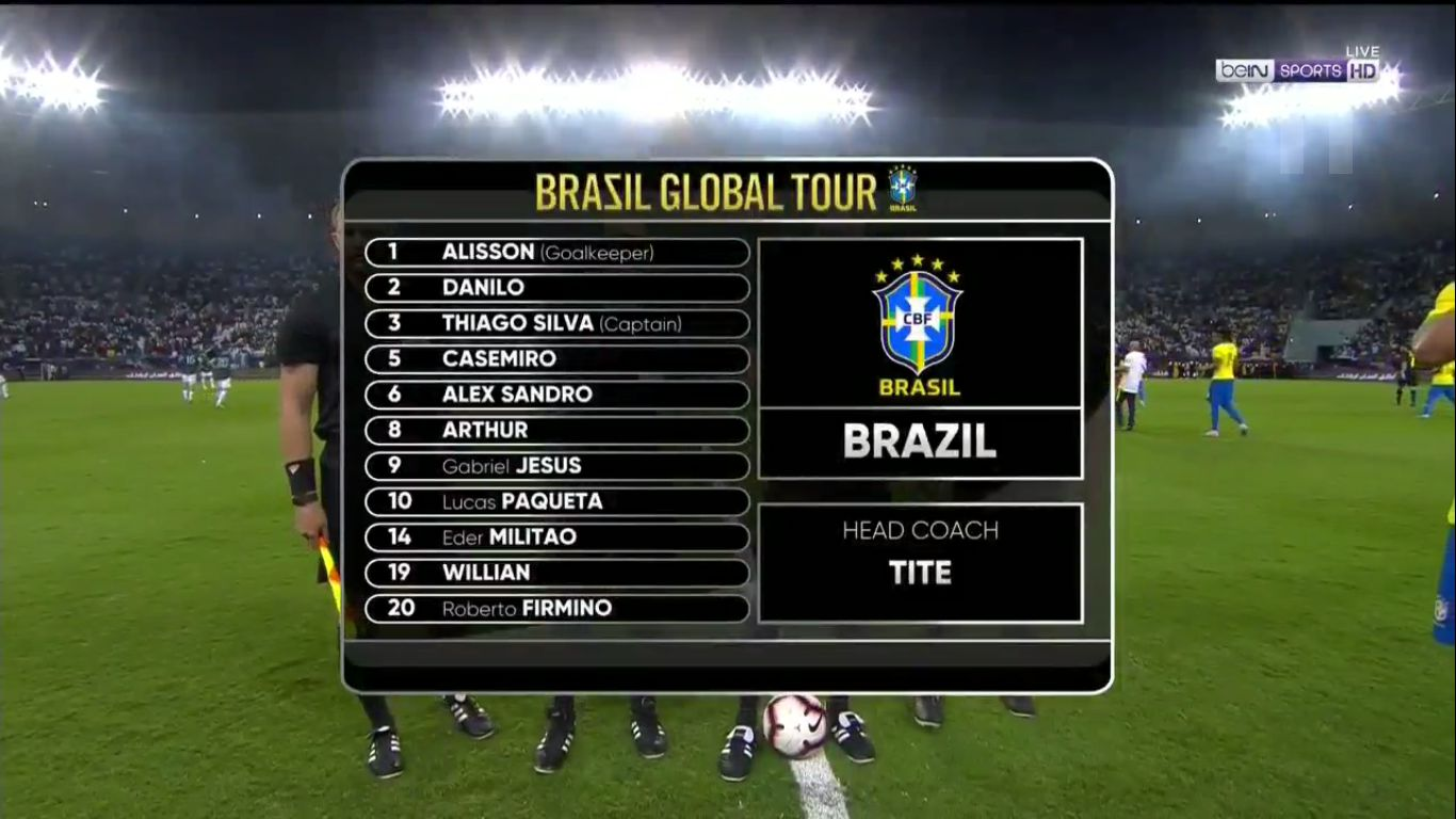 15-11-2019 - Brazil 0-1 Argentina (FRIENDLY)