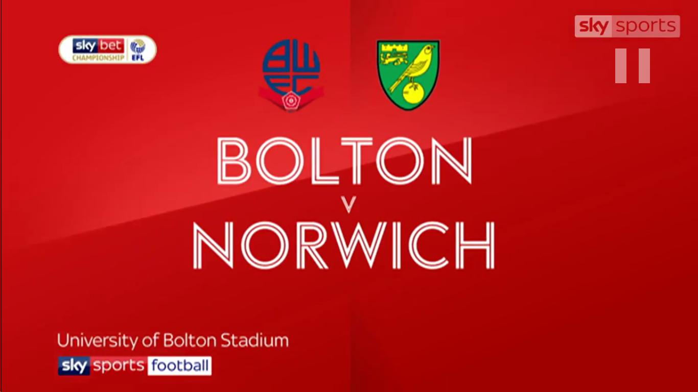 16-02-2019 - Bolton Wanderers 0-4 Norwich City (CHAMPIONSHIP)