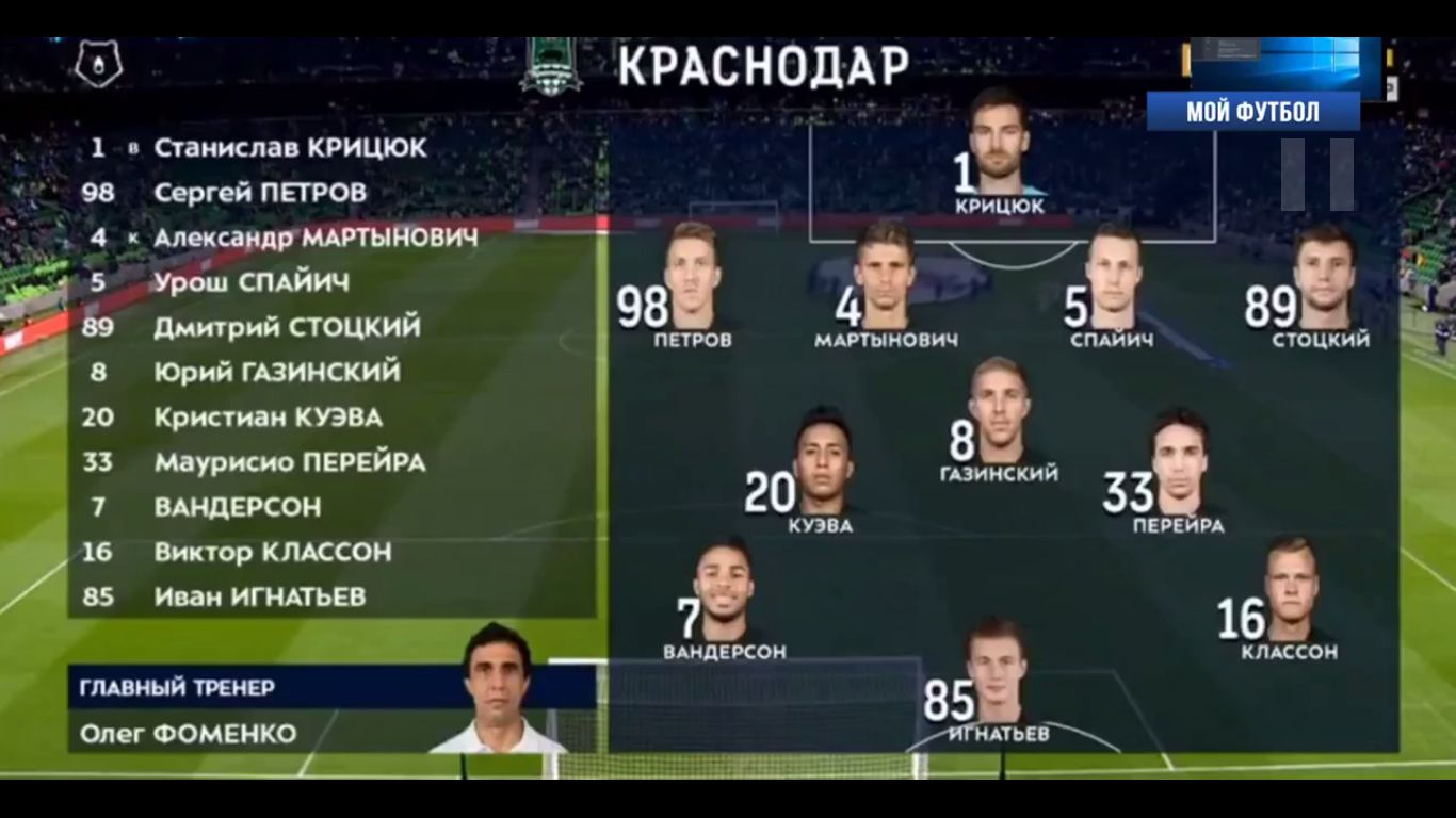 09-12-2018 - FC Krasnodar 1-1 FC Ufa